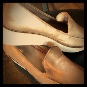 Aldo gold shoes